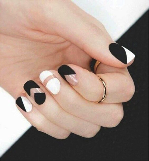 10 Incredible Black And White Nail Designs Sparkly Polish Nails