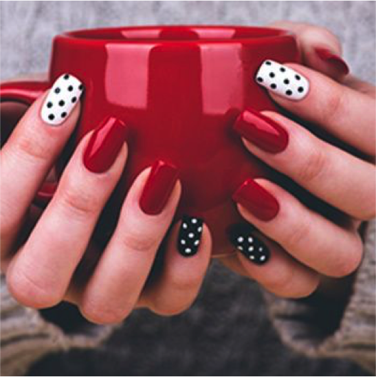 10 Ways To Diversify Classic Red Nail Art Sparkly Polish Nails