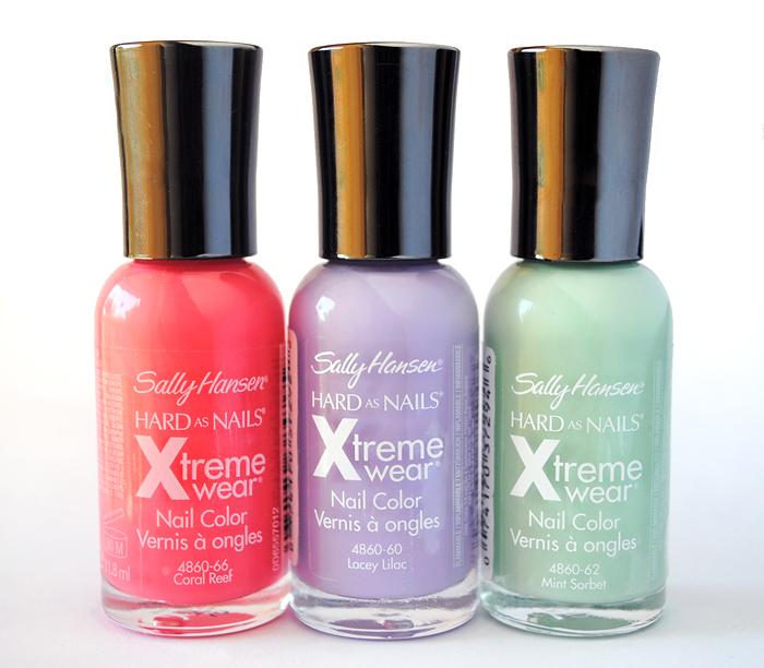 Sally Hansen Xtreme Wear Nail Color Spring Swatches - Sparkly Polish ...