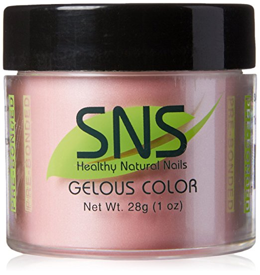 Sns Natural Nails Sparkly Polish Nails