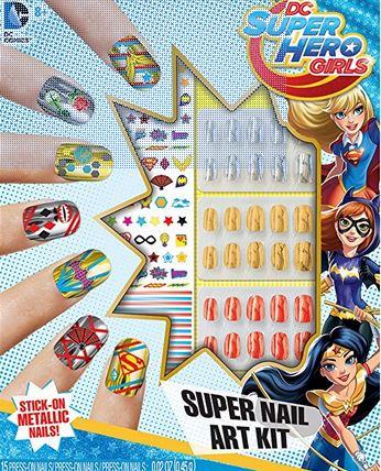 Superhero Girls Nail Art Sparkly Polish Nails