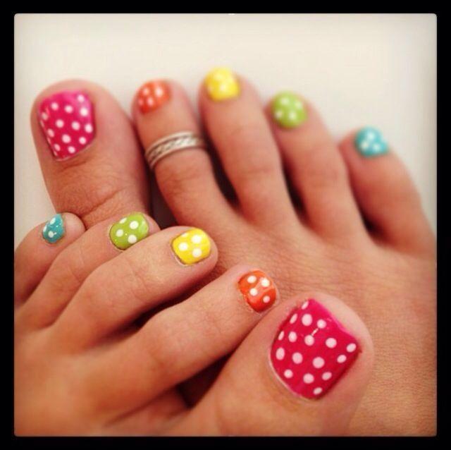 Spring Inspired Toenail Art Designs Sparkly Polish Nails