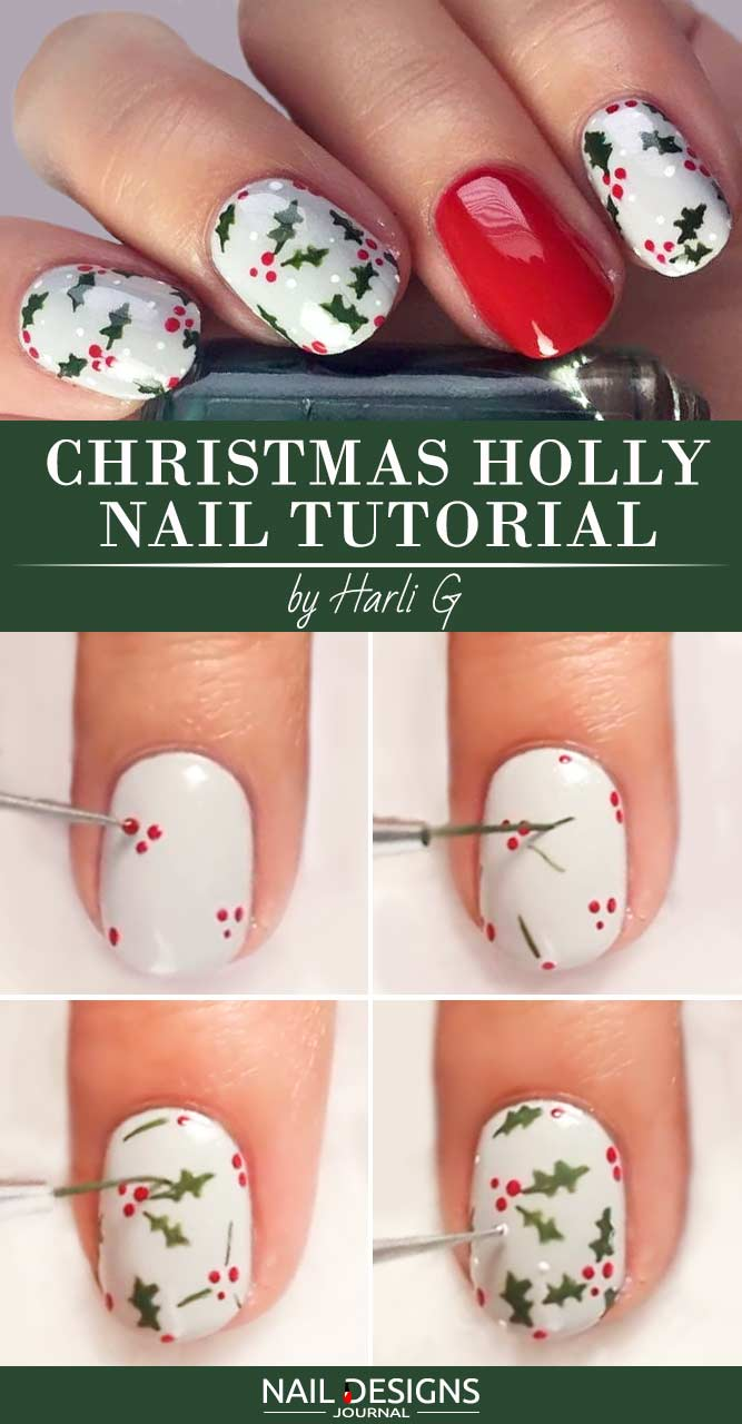 More Holly Nail Art Designs To Recreate