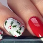 How to do Christmas Holly Nail Art?