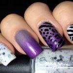 Zebra and Leopard Gradient Nail Art