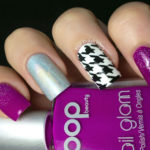 Purple Houndstooth Manicure