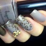 Nude Leopard Nail Design