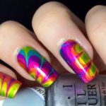 Tie Dye Nail Art – Rainbow Color