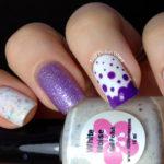 Purple Candy Drops Nail Design