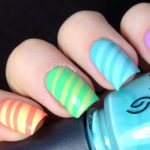 Striped Candy Nail design
