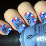 Nautical-themed Mani with dots