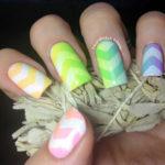 Unicorn Chevron Nails