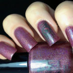 Shimmering Plum Holographic Manicure