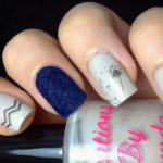 Wintery Velvety manicure